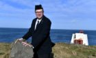 Michael Strachan, Captain of 1st Rosehearty Boys Brigade at the Scottish Lighthouse Museum, where he works.
