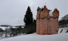 CR0026538 Weather / Snow / Aberdeenshire Picture of Craigievar Castle.  Picture by Kenny Elrick     04/02/2021