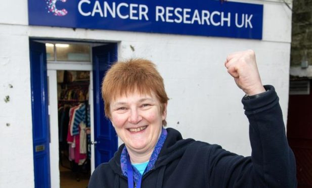 Dianne Gear, manager of the Cancer Research UK shop in Lerwick.