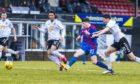 Inverness' Daniel MacKay makes it 1-0 against Ayr United.