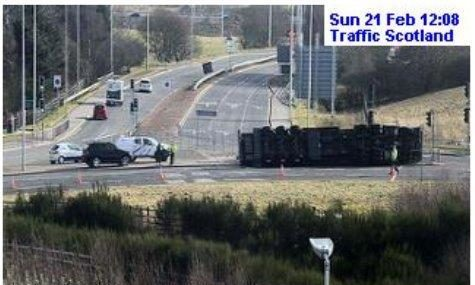 The incident on the A96