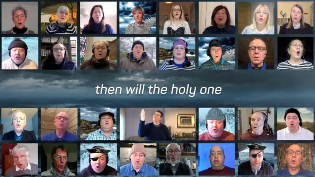 Rev Peter Johnston, of Ferryhill Church, has rewritten a sea shanty to tell the story of Noah and enlisted the help of church members from across Scotland
