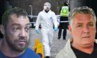 Stuart Quinn, pictured left, murdered Alan Geddes