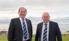Highland League secretary Rod Houston, right, was part of the reconstruction process in 2020
