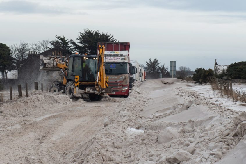 Crews battled extreme weather at the weekend.