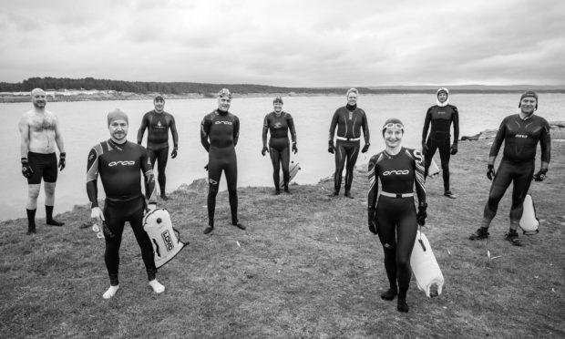 Members of the Moray Firth Triathlon Club at Burghead