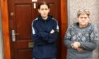 Kellie McCuish, (left) is being forced out of her flat by rats. She is spending most of her time in her mother (right) Mary McCuish's flat downstairs.
