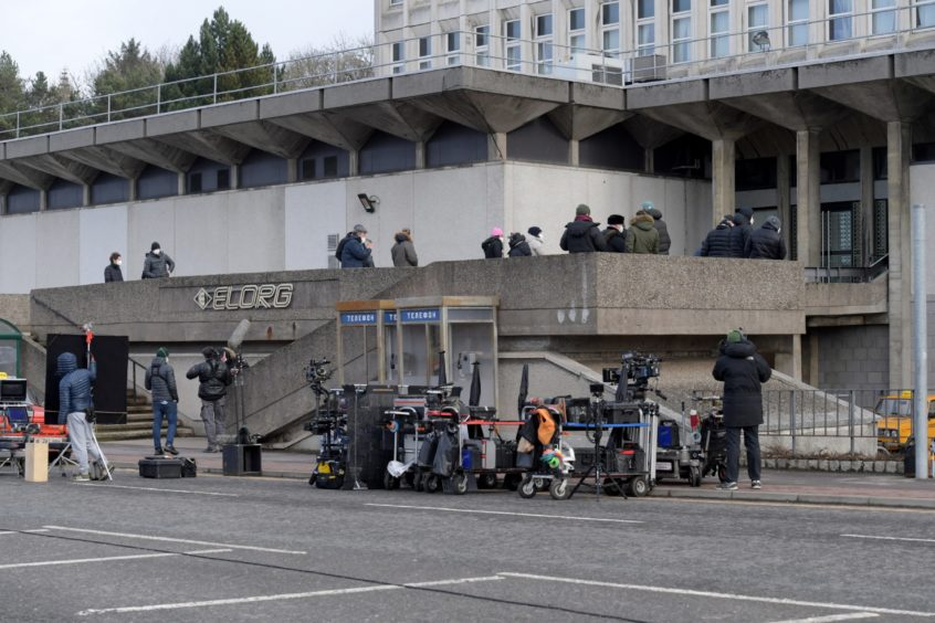 Parts of Aberdeen are being used to film the movie.
