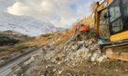 Landslide mitigation works at the Rest and Be Thankful.