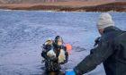 Diver at Loch Fada