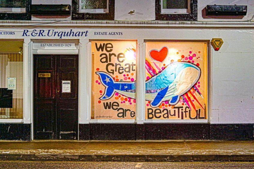 Artwork displayed as part of the Window Wanderland.