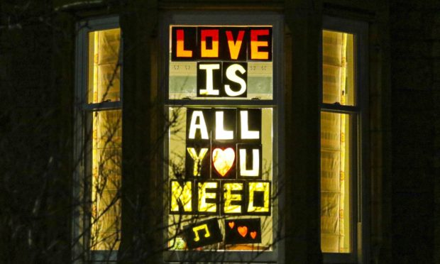 """The displays in the Window Wanderland event were on the theme of """"Love is""""."""