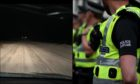 Police have described conditions on the A98 as 'skitey'