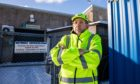 Sam Summersbee of  Network Refrigeration, Balintore outside the unit where specialst copper wiring was taken following a break in at the yard.
