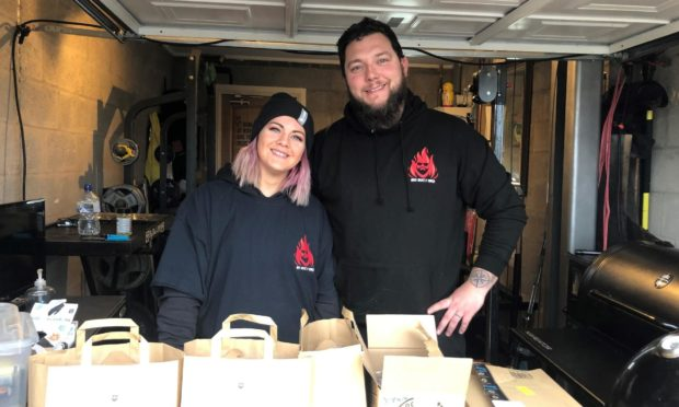 Local couple Nicola and Stewart Buchan were up all night cooking to raise money for the Peterhead Lifeboat Station after being bowled over by the crew's dramatic life-saving rescue earlier in February.