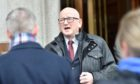 Sex attack councillor Alan Donnelly, outside Aberdeen Sheriff Court.