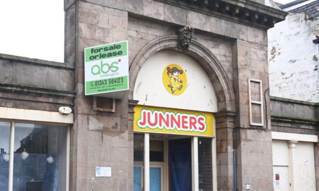 Former Junners toy shop in Elgin.