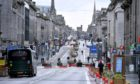 Union Street, Aberdeen, has been altered significantly under the Spaces For People work.