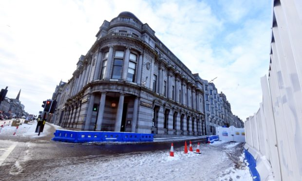 The Monkey House, earmarked for flats, overlooking the redevelopment of Union Terrace Gardens in Aberdeen city centre.