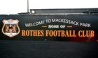 Mackessack Park, the home of Rothes.