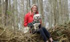Pictured: Anna Gill and her dog Samson walking near Pitmedden House.