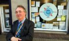 Peterhead councillor Stephen Calder, outside the former Compass Point centre on Back Street. Picture by Kami Thomson