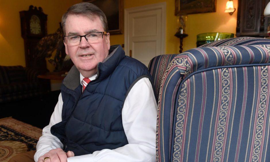 Brora Rangers chairman William Powrie.