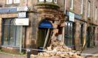The damaged building on Pumpgate Street, Merkinch
