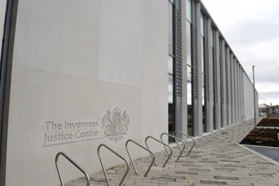 Picture by SANDY McCOOK    30th MArch '20 The new Inverness Justice Centre which conducted its first business yesterday (Monday) despite the current Covid-19 emergency.