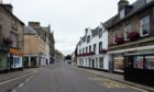 The High street in Forres, Moray.