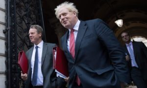 Secretary of State for Scotland Alister Jack and Prime Minister Boris Johnson.