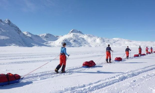 Pictured: Arctic expedition underway in Greenland