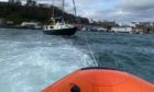 Portree lifeboat launched to the aid of the stricken yacht