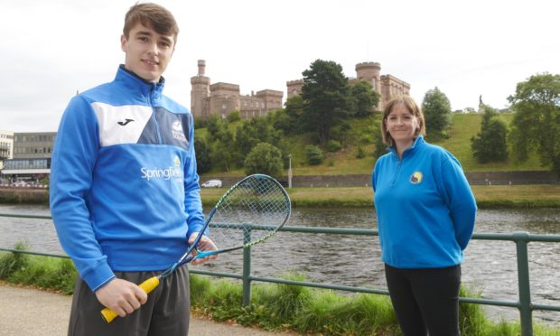 Club manager Ailsa Polworth and Inverness professional squash player Alasdair Prott who's expected to compete in the 2021 Springfield Scottish Squash Open later this year.