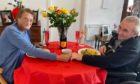 Sandy and Jeanie Stephen enjoy a special romantic meal at Cowdray Club Care Home, Aberdeen.