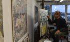 Robbie Bushe in his Edinburgh studio.