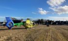 Scotland's Charity Air Ambulance at Echt, Westhill.
