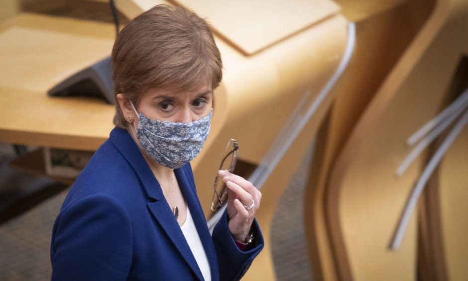 First Minister Nicola Sturgeon said the question of gyms being allowed to open earlier after this lockdown was