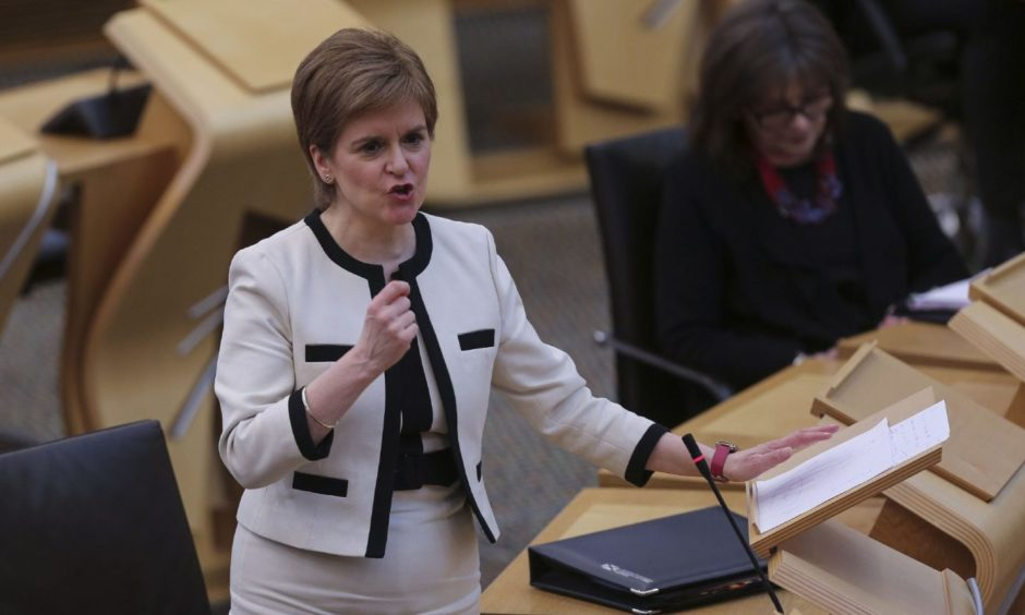 First Minister Nicola Sturgeon faced questions on the Alex Salmond affair.