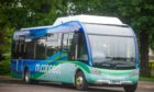 Moray Council's existing electric bus.