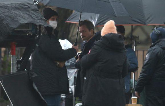 Taron Egerton has been filming Tetris in Glasgow