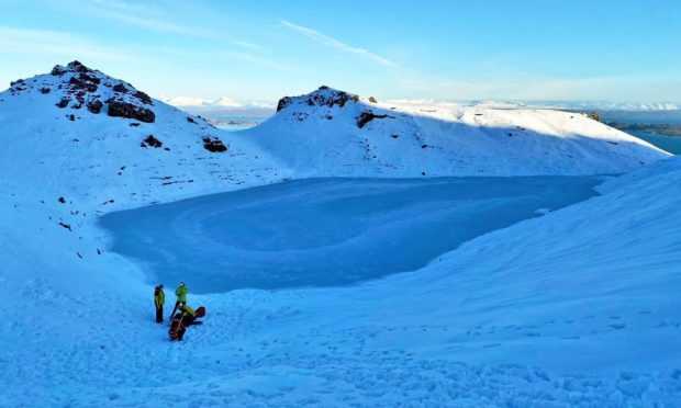 A man was rescued after injuring himself sledging at the Old Man of Storr
