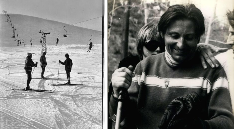 Extreme skier Sylvain Saudan was a ski instructor at Glenshee in the 1960s.