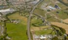 Aerial photo from Transport Scotland showing where the new link road could go