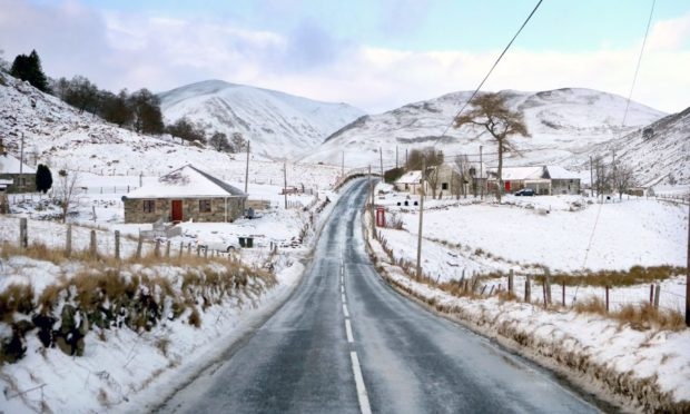 The A93 at Spittal of Glenshee.