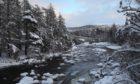 The River Dee near Balmoral, Aberdeenshire last week