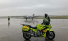 The transplant being handed over at Birmingham airport