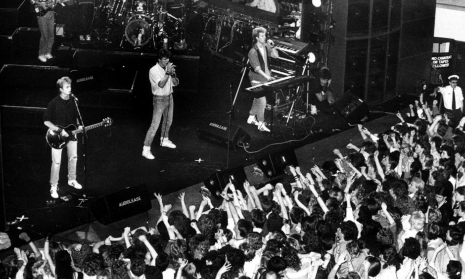 After Morten Harket was unveiled as Viking on The Masked Singer, here is a reminder of the frontman in action with A-Ha, wowing fans at the Capitol in 1986.