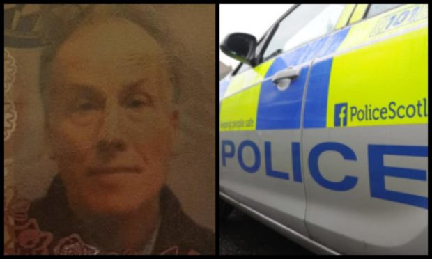 Frank Grant was reported missing from Montgomerie Drive, Nairn, yesterday.