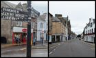 Nairn High Street (left) and Forres High Street. Pictures by Jason Hedges